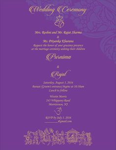 wedding invitation wording for hindu wedding ceremony