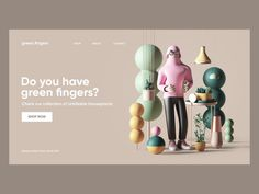 Green Fingers designed by Peter Tarka. Connect with them on Dribbble; the global community for designers and creative professionals. Modern Web Design, Flat Design, 3d Design, Pattern Design, Web Design Trends, Fingers Design, Adobe Xd, Adobe Photoshop, 3d Tutorial