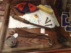 WWI antique German trench Weapons Harris Hall of Antiques