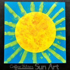 Coffee Filter Sun Art via www.iheartcraftythings.com