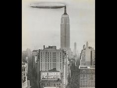"""Dirigible Docked on Empire State Building, New York"""", 1930"""