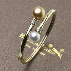 Southsea pearls with diamonds bangle