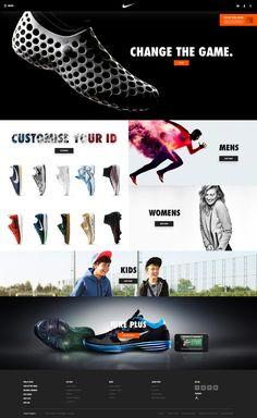 Concept redesign of nike website. Wordpress Website Design, Wordpress Theme Design, Joe Taylor, Soccer Logo, Nike Soccer, Website Slider, Webpage Layout, Nike Website, Modern Website
