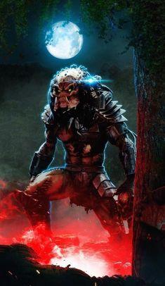 Predator Comics, Wolf Predator, Predator Mask, Alien Vs Predator, Alien Concept Art, Game Concept Art, King Kong, Predator Cosplay, Alien Art