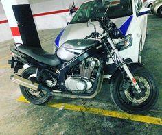 Today's ride #mecanica #mechanic #mechanix #mecanicos #mechanics #repair #reparacion #rebuilt #mechanicslife #car #carguy #carparts #petrolhead #motorcycle #bike #motorbike #moto #suzuki #gs500 #twocylinder #ride #today #testing #test
