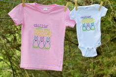 A personal favorite from my Etsy shop https://www.etsy.com/listing/505751462/chillin-with-my-peeps-shirt-baby-onesie