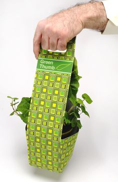 "Clever cute ""green thumb"" #flower #packaging PD"