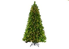 Puleo International 7.5 Ft. Teton Pine Tree with 600 Clear UL Lights, includes…
