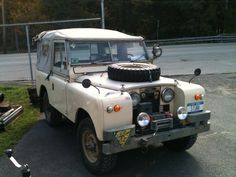 """Affectionately know as """"Bertie"""", our Series 2 Land Rover goes anywhere it wants to!"""