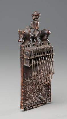 "Africa | Thumb Piano ""sanza"" from the Chokwe people of DR Congo or Angola 