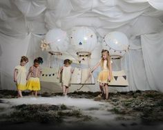 hot air balloon photo booth for kids.....take pics of kids (in Victorian costumes would be great)..edit and use for photos in frames or greeting cards or signs