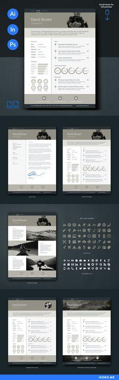 Retro Resume Template Design