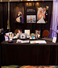Bridal Show Booth Decor Ideas for a Photographer | Your Wedding TV - Orlando Bridal Show - Photography Display