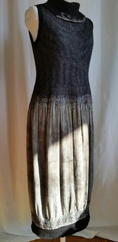 Nuno dress with ecodyed skirt