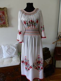 Hungarian Kalocsai  handmade embroidered dress. by macaristanbul, $700.00