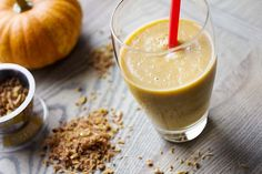 PUMPKIN-GINGER SMOOTHIE via Smith Bites - and it's Lactose-Free!