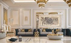Enhance Your Senses With Luxury Home Decor Home Room Design, Interior Design Living Room, Living Room Designs, Mansion Interior, Luxury Homes Interior, Living Room Decor Cozy, Classic Living Room, Luxury Furniture, Studio