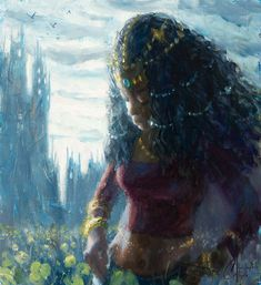 Princess of the Meadow | This is an original oil fantasy fig… | Flickr Oil Paint On Wood, Painting On Wood, Clark Art, Fantasy Figures, Figure Painting, Paintings, The Originals, Princess, Artist