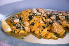 """CHICKEN FRANCAISE'  Michael Symon's on the chew****Note: Add Mushrooms to this..delicious!"