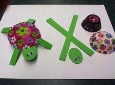 ekoDziecko.com: Żółw z foremki na babeczkę