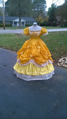Victorian, Civil War Era, Yellow Belle, Beauty and the Beast Inspired Ball Gown Costume by JessicasDress on Etsy