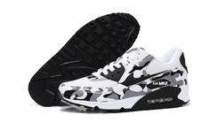 Sport Životní styl Nike Air Max 90 Floral Dámské běžecké boty Camouflage černá  bílá Sportovní Obuv 58f3a69c88
