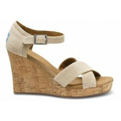 So just discovered TOMS wedding line. In love. Not only are these shoes the most comfortable wedges on the planet, they're awesomely beachy and perfect... and best of all IT'S FOR THE KIDS!