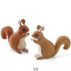 DIY sewn squirrel