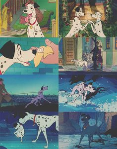 i had this obsession with this movie last year, along with more obsessions of other disney films o.O - 101 Dalmations Walt Disney, Disney Pixar, Disney Dogs, Disney Animation, Disney And Dreamworks, Disney Magic, Disney Art, Disney Animated Movies, Disney Movies