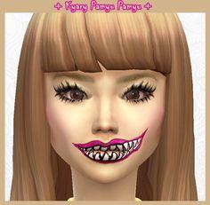 Lenses, Japanese Eyebrows, Moshi Lipstick + Eyelashes at DecayClown's Sims via Sims 4 Updates