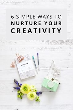 From switching off and getting outside to experimenting with other forms of creativity, today I'm sharing six simple ways to nurture your creativity. Creativity Exercises, Creative Activities, Creative Outlet, Creative People, Blog Tips, Simple Way, Creative Inspiration, Creative Business, Diy Art