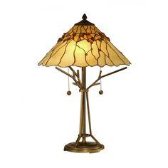 Dale Tiffany Lamps Branch Base Tiffany 2 Light Table Lamp - TT10598