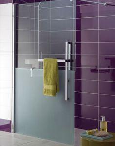 0101 am nagement salle de bains douche walk in c ramique et verre c ramique plancher et. Black Bedroom Furniture Sets. Home Design Ideas