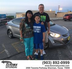 https://flic.kr/p/EEi8fP | Happy Anniversary to Diana and Mike on your #Hyundai #Elantra from Jane Smallwood at Texoma Hyundai! | deliverymaxx.com/DealerReviews.aspx?DealerCode=L967