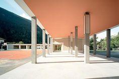 Joos & Mathys Architekten - Zürich - Schulhaus Pavilion, Color Inspiration, Modern Architecture, Construction, Interior, Outdoor Decor, Columns, Home Decor, Colour
