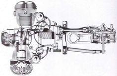 BMW Airhead Twin Cutaway Drawing