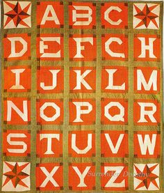 Pieced Quilt Alphabet 1885 Pennsylvania by SurrendrDorothy, via Flickr