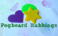 Pegboard Rubbings {No Time for Flashcards}