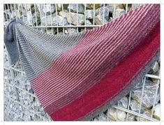 Knitting Patterns Shawl Triangle scarf, knitting pattern – knitting instructions at Makerist Knitted Shawls, Crochet Shawl, Knit Crochet, Triangle Scarf, Oversized Scarf, Knitting Accessories, Knitting Socks, Shawls And Wraps, Knitting Patterns