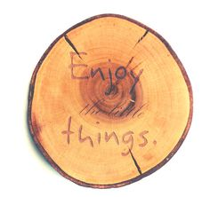 podkładka drewniana enjoy napis prezent drewno - beAWESOMElab - Litery i napisy