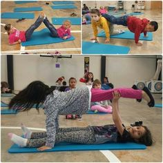 Partner yoga poses that can easily be done in the classroom Elementary Physical Education, Physical Education Activities, Elementary Pe, Pe Activities, Health And Physical Education, Partner Yoga, Yoga For Kids, Exercise For Kids, Family Yoga