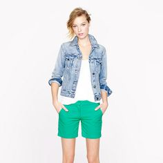 """For 4 years, I have been looking for a pair of green linen/seersucker shorts that I like... I FINALLY FOUND THEM!!!  (And they are sold out. I am crying inside)   $60  @J.Crew 5"""" seersucker short"""
