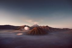"timbllr: "" Mt Bromo, Batuk and Semeru by Reuben Wu """