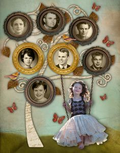 Family Heritage Scrapbooking or Photo wall example - Family vignette. Heritage Scrapbooking, Scrapbooking Layouts, Scrapbook Pages, Scrapbook Photos, Family Tree Art, Free Family Tree, Family Genealogy, Photo Tree, Photo Craft