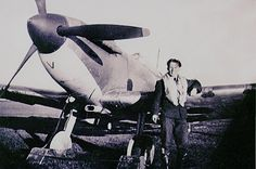 """Sgt Zygmunt """"Zig"""" Klein poses with Spitfire Mk I UM-V after being received by No 152 Squadron RAF at RAF Warmwell on 5 October 1940. The 22-year-old Pole crash-landed near Torquay on 26 November, out of fuel, and failed to return 2 days later when believed to have scored hits on Me 109E-4 Black Double Chevron flown by Maj Helmut Wick of 1/JG2 at 17.00, the victory over the Luftwaffe ace being credited to F/L John C """"Dogs"""" Dundas of No 609 Squadron RAF."""