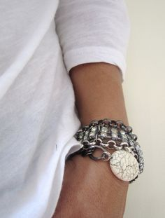 mixed chain bracelets by nicobel on etsy
