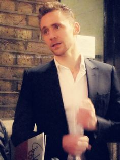 Tom Hiddleston after Coriolanus production.