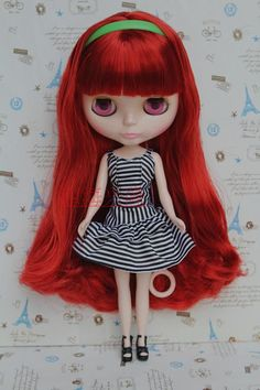 "New 12"" Neo Blythe doll nude Takara doll from factory  Red long hair S04 #Takara #Dolls"