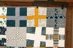 cross quilt, love the colors #quilt #quilting #tinlizzie18