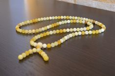 7mm. Tibetan Buddhist Amber Rosary Mala, natural amber beads, Mala prayer rosary, round beads rosary, 108 round beads yellow amber